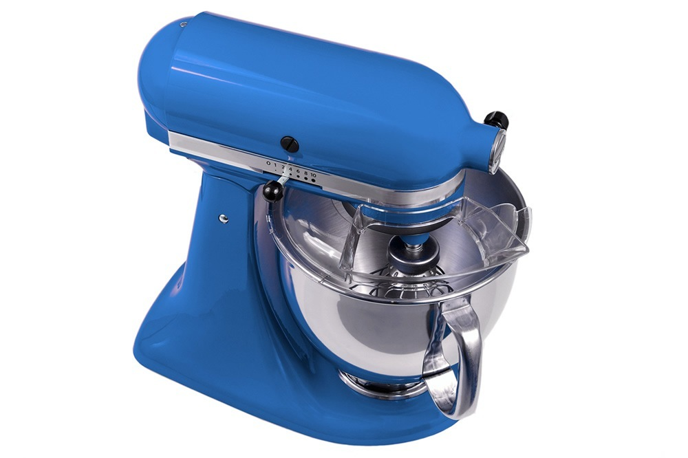 "Some of the KitchenAid stand mixer's earliest attachments, like the ice cream maker, were originally made of wood. The appliance's name came from the wife of a Hobart Company executive who proclaimed it was the ""best kitchen aid ever.""."